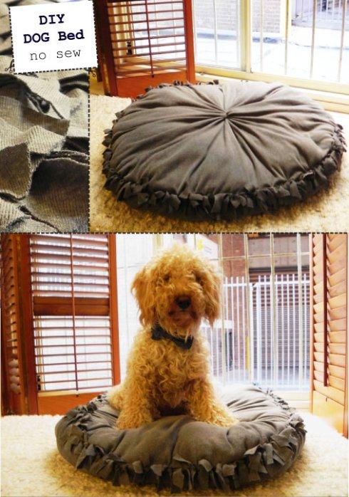 DIY Dog Bed No Sew