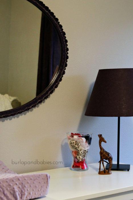 DIY Nursery Mirror Makeover