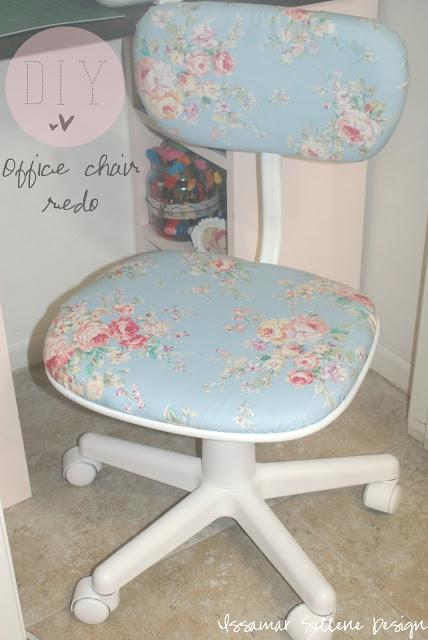 DIY Shabby Chic Office Chair