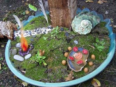 Fairy Garden and Fairy Pond