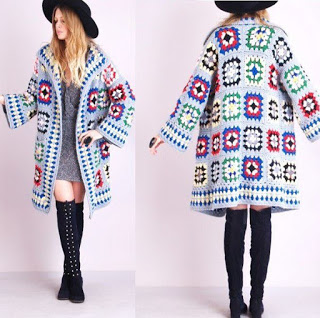 Granny Square Fall Coat