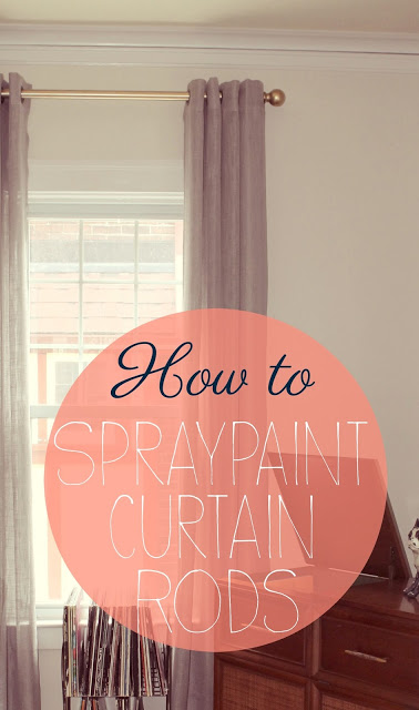 How to Spray Paint Curtain Rods