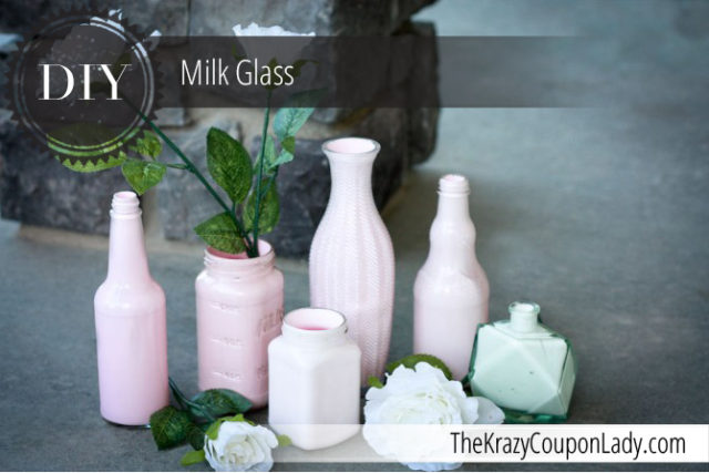 Make Your Own Milk Glass