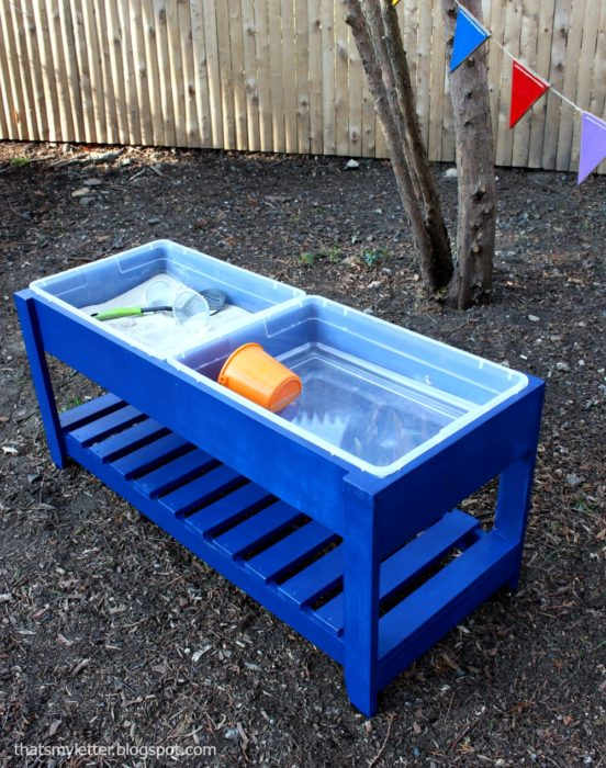 Build a Sand and Water Play Table
