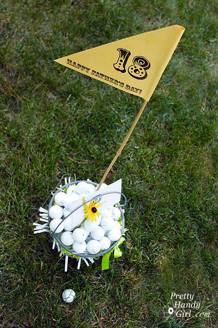 DIY Gift Idea Golf Gift Basket