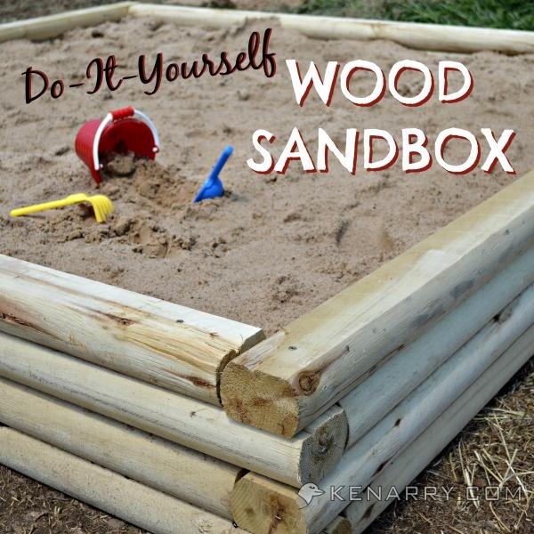 Do It Yourself Wood Sandbox