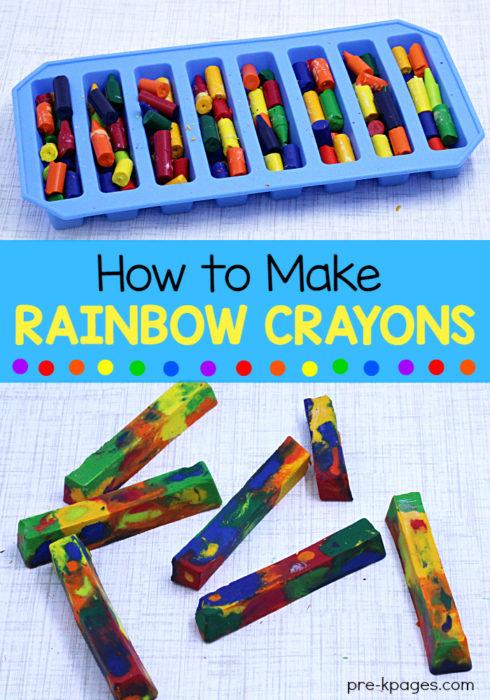 How to Make Rainbow Crayons