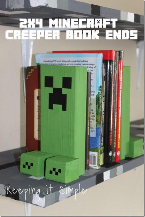 Minecraft Creeper Book Ends