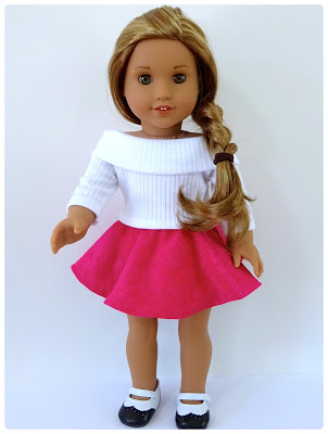 Skater Skirt Doll Clothes Pattern for American Girl Doll and Australian Girl Doll