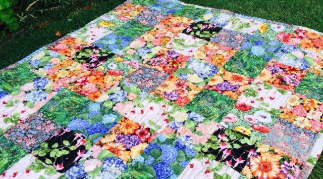 Susies Garden Lap Quilt