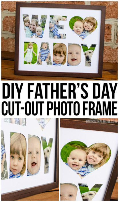 DIY Fathers Day Photo Frame Tutorial