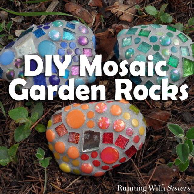 DIY Mosaic Garden Rocks