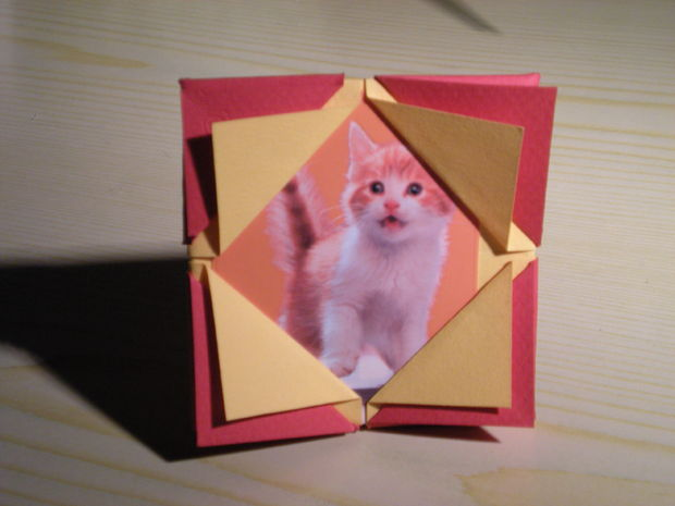 How to make an origami picture frame