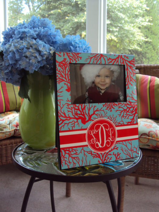 Monogrammed Picture Frame Personalized
