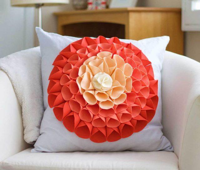 No Sew Pillow Embellishment