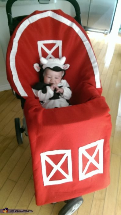 Baby Cow in Barn Baby Costume
