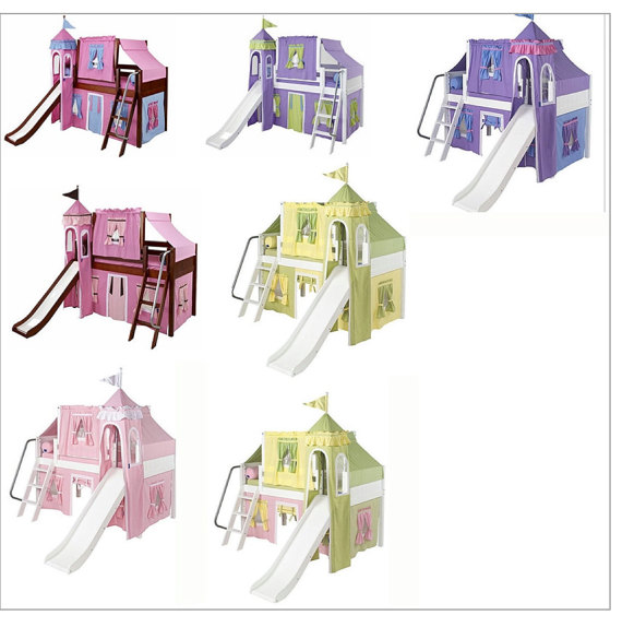 Castle Loft Bed Top Tent and Bottom Tent