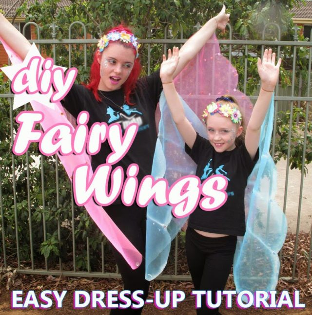 Cheap and Easy Fairy Wings Tutorial No Sew