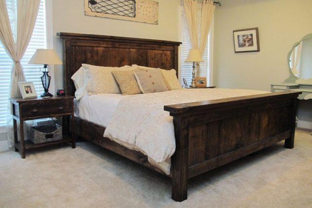 DIY Pottern Barn Farmhouse Bed