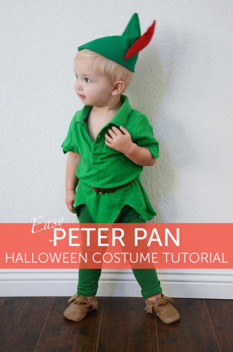 Easy DIY Peter Pan Halloween Costume for Kids