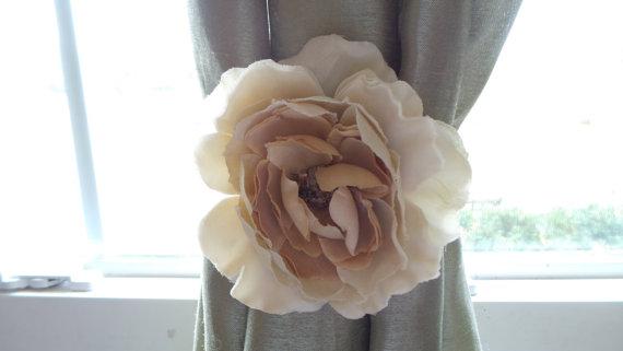 Rustic Floral Curtain Tie Backs