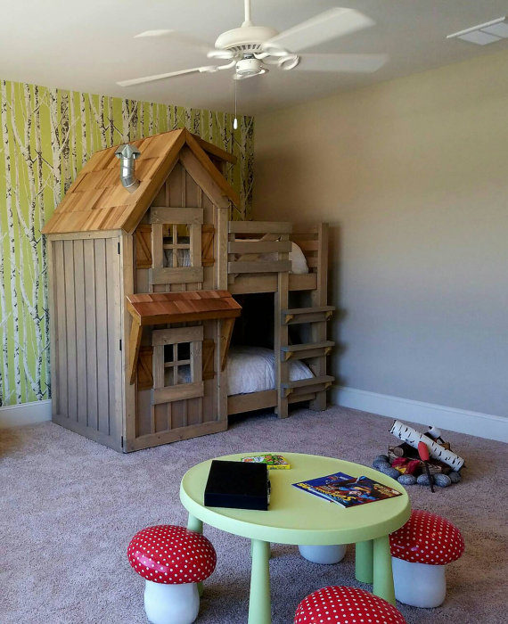 The Rustic Cabin Bunk Bed