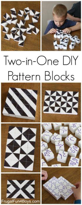 Two in One DIY Pattern Blocks