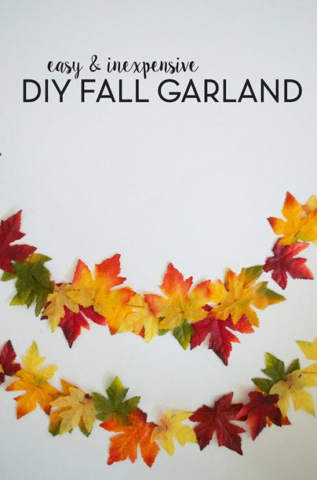 Easy & Inexpensive DIY Fall Garland