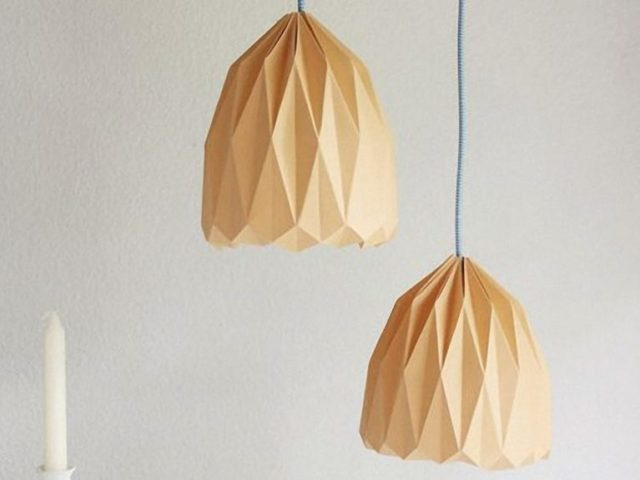 Fold Origami Lampshade for Hanging