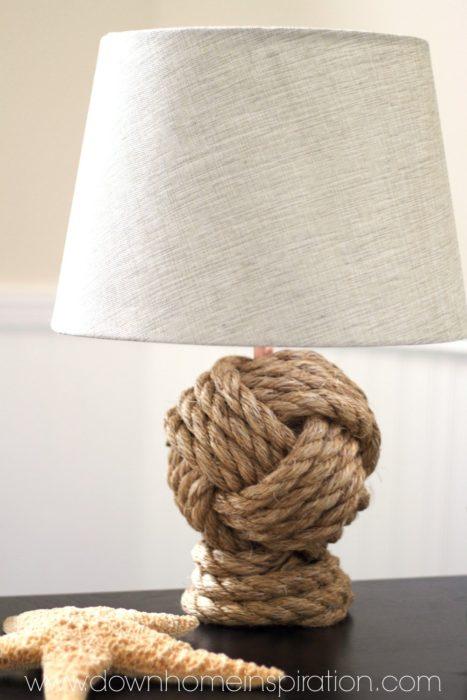 Pottern Barn Rope Knot Knockoff Lamp