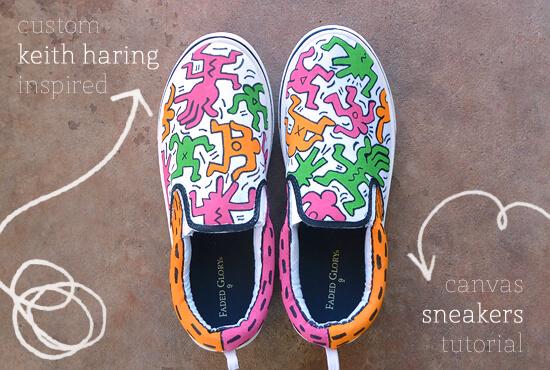 custom-keith-haring-inspired-canvas-sneakers-tutorial