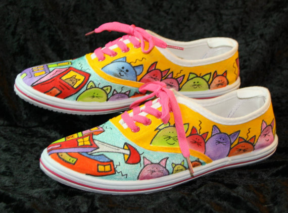 funny-cat-shoes-summer-fun