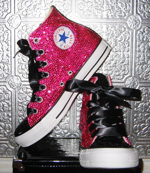 rhinestone-converse-all-star-high-tops-with-ribbon-laces