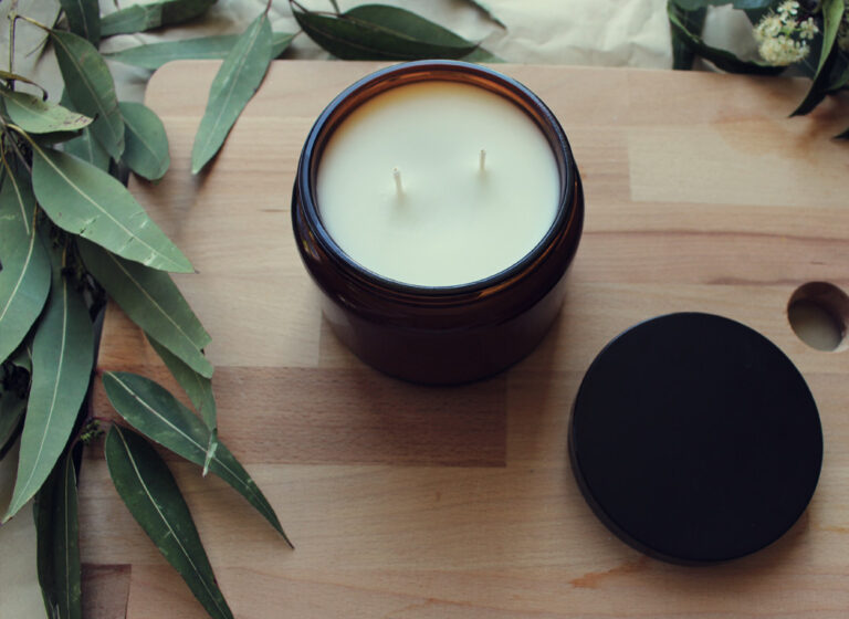 Eucalyptus scented soy candle