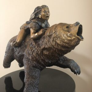 "Bronze Sculpture for Sale|Flight of the Spirit Bear|13""H X 15""W"