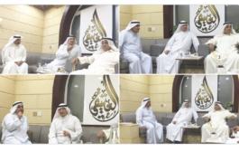 زيارة السفير سعود فيصل الدويش ديوان عبداللطيف يوسف العتيقي بمنطقة قرطبة