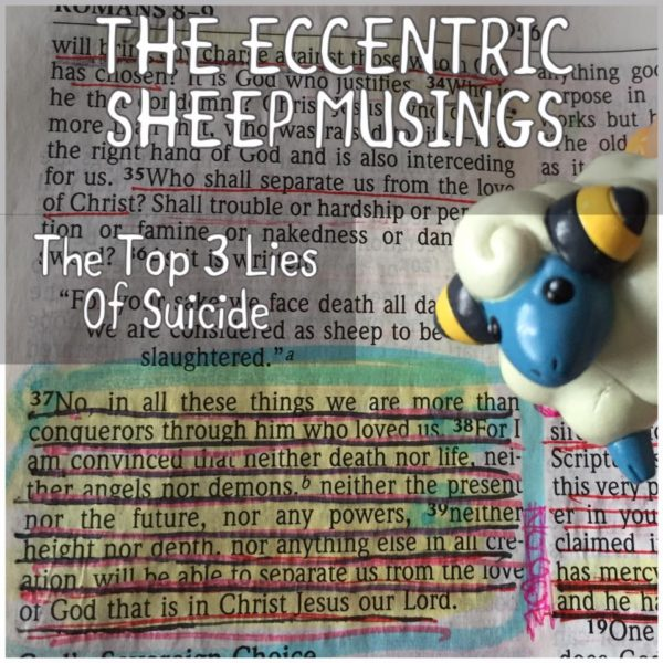 The Eccentric Sheep Musings: The Top 3 Lies Of Suicide