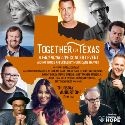 TRAVIS GREENE TO PERFORM FOR TOGETHER FOR TEXAS