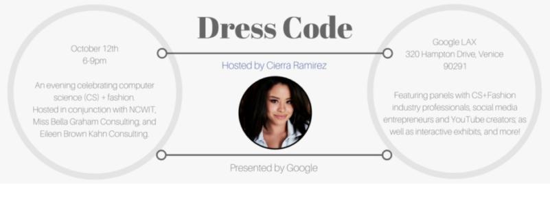 Dress CODE Jessica Grace White Attends Google's Dress CODE Event