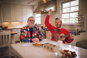 Dinner Conversations with Mark Lowry and Andrew Greer Hits #1 on the iTunes Video Podcast Charts