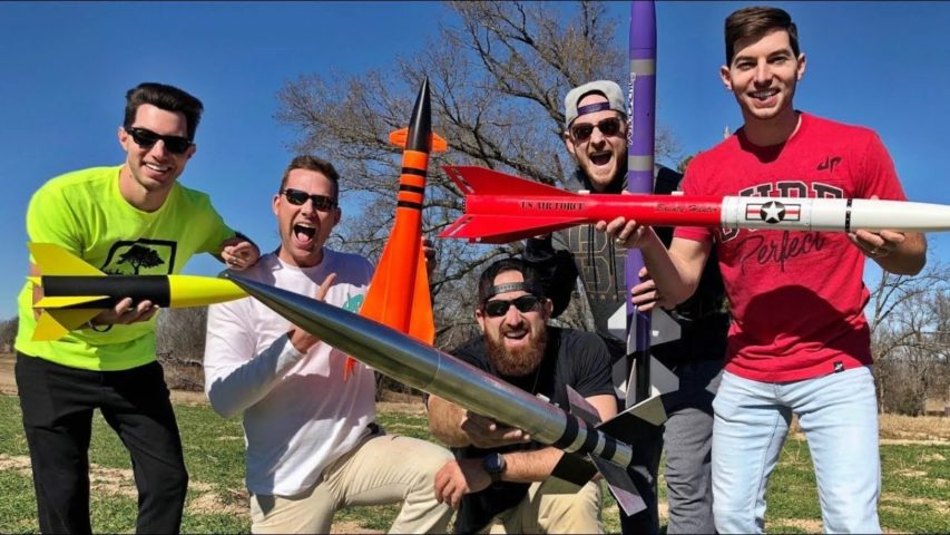 Dude Perfect Take on the Model Rocket Battle