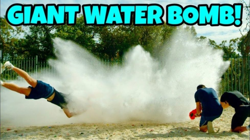 How Ridiculous - GIANT WATER BOMB Vs. NERF BLASTERS