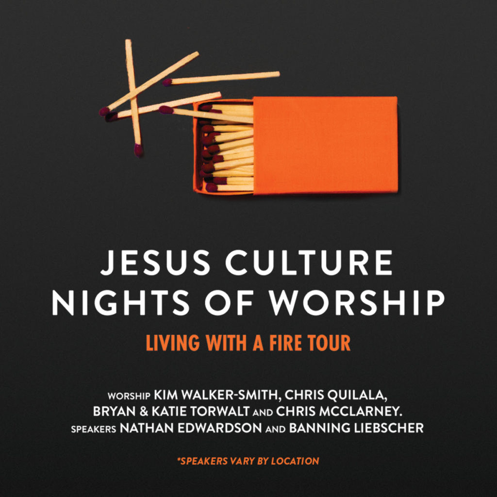 """Jesus Culture to Bring """"Living With A Fire"""" Tour to Nearly 20 Markets This Fall"""