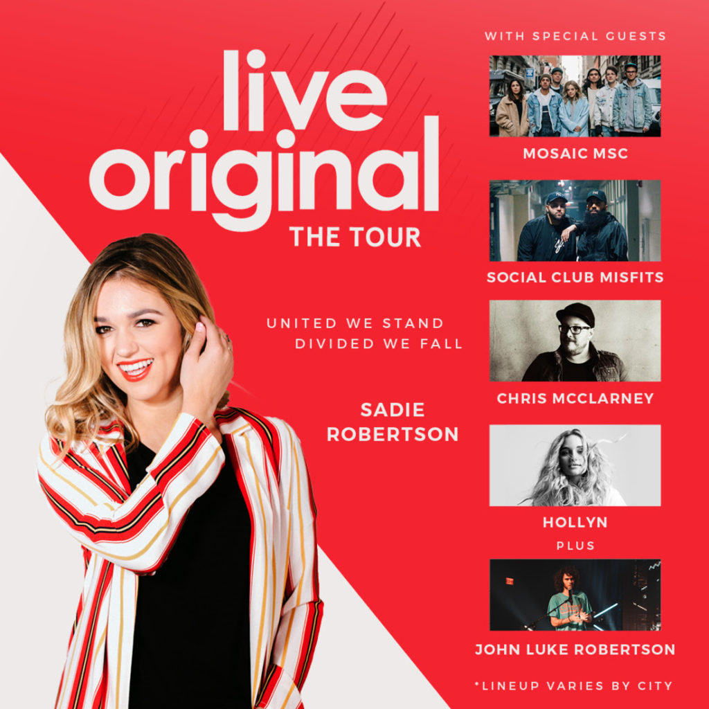 Sadie Robertson and Friends Gear Up For Third Annual Live Original Tour