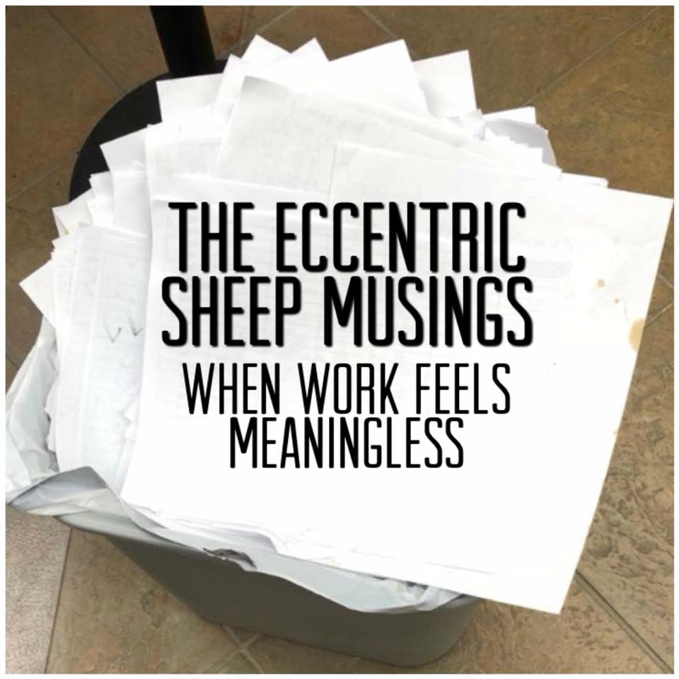 The Eccentric Sheep Musings: When Work Feels Meaningless