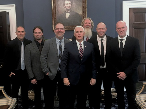 MercyMe Participates In Historic Signing Of Music Modernization Act At The White House