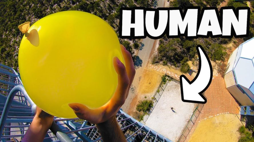How Ridiculous: Dodging Water Balloons from 45m