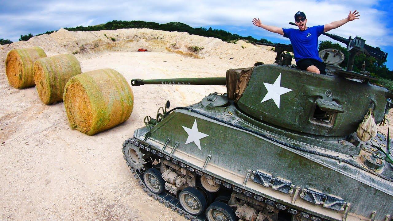 How Ridiculous: WW2 Tank vs 3 Giant Hay Bales