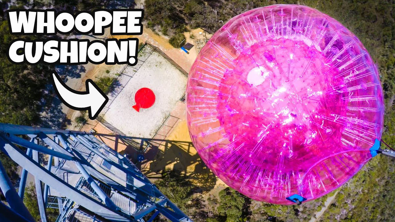 How Ridiculous drop a Zorb Ball on a Giant Whoopee Cushion