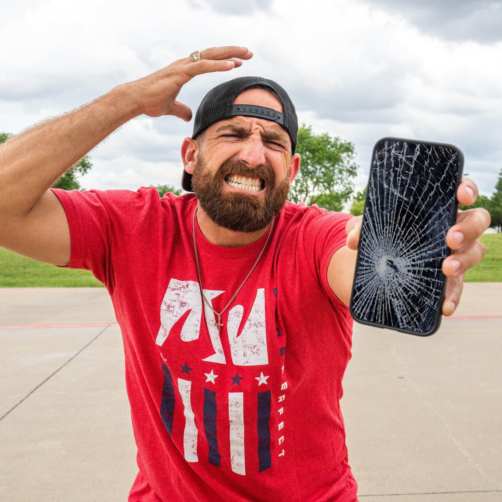 Dude Perfect Outline Cell Phone Stereotypes